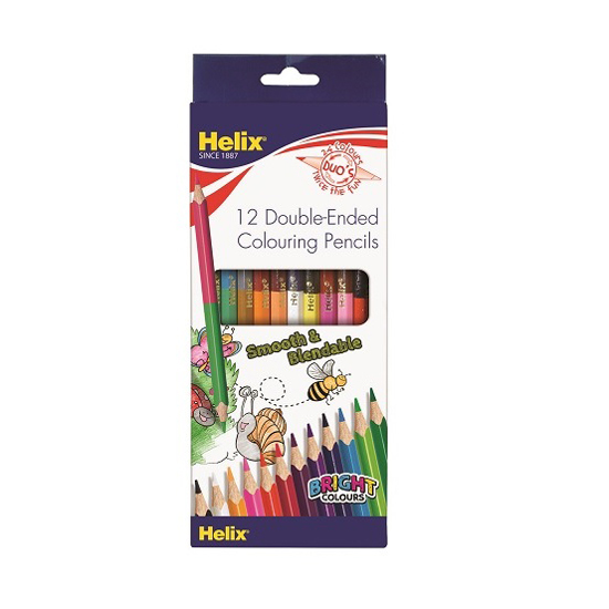 HELIX OXFORD 833510COLOURING PENCILS 12 DUO