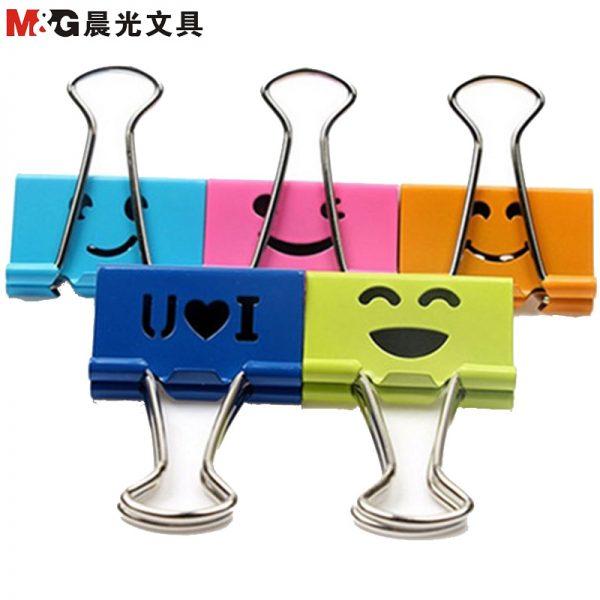 M&G ABS-92703 彩色開心長尾夾, M&G ABS-92703 Emoji Binder Clip