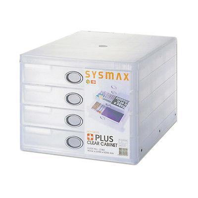 SYSMAX 13005 四層透明桌上型文件櫃