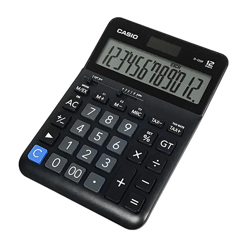 CASIO D-120F 計算機, CASIO D-120F CALCULATOR