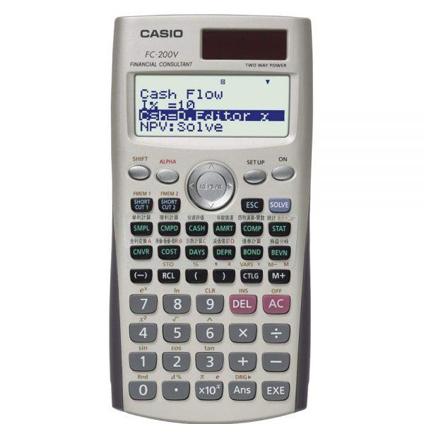 CASIO FC-200V 計算機, CASIO FC-200V CALCULATOR