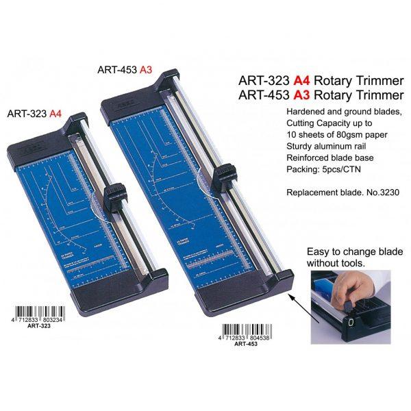 ARGO ART-323 A4 滾輪切紙刀(金屬底板), ARGO ART-323 A4 ROTARY TRIMMER