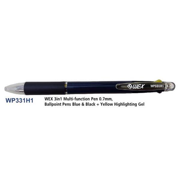 WEX WP331H1 3色原子筆, WEX WP331H1 3-COLOUR BALL PEN