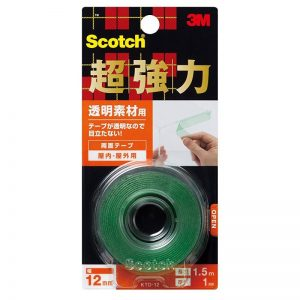 3M™ 思高® KTD-12 超強力雙面膠貼 - 透明材料用, 3M KTD-12 VHB Super Heavy Duty Clear MountingTape