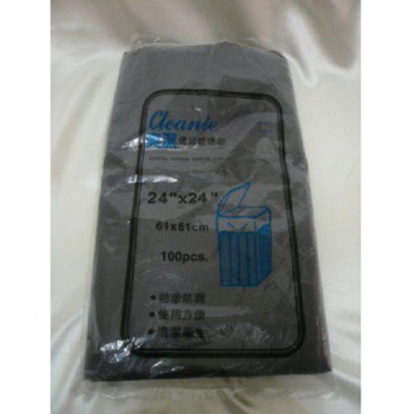 """爽潔 P.O 24 X 24 黑色(包裝)垃圾袋, Cleanie 24""""X24"""" Black Garbage bags"""