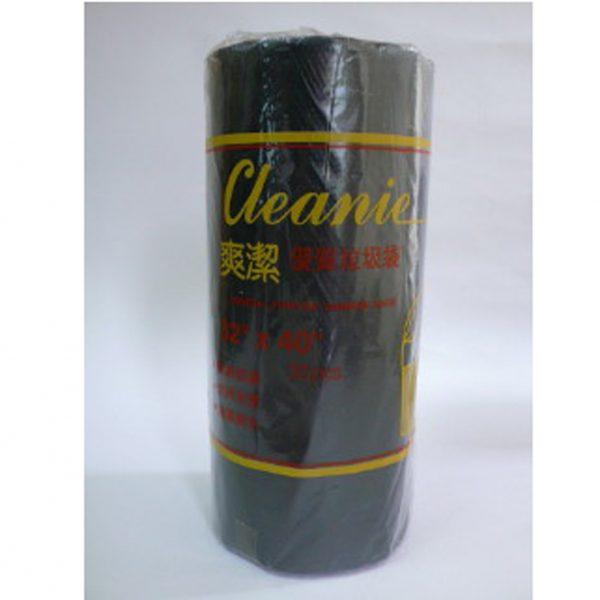 """爽潔 P.O 32 X 40 黑色(卷裝)垃圾袋, 32""""X40"""" Black Garbage bags (Roll)"""
