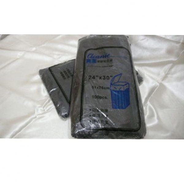 """爽潔 P.O 24 X 30 黑色(包裝)垃圾袋, Cleanie 24""""X30"""" Black Garbage bags"""