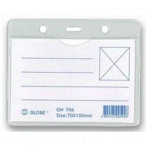 GLOBE GN706 105X70mm 橫身軟膠證件牌(淨牌)
