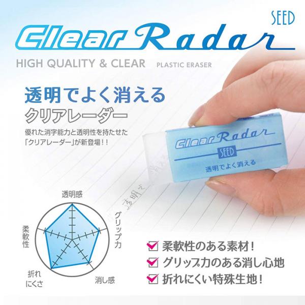 RADAR SEED EP-CL100 透明擦膠(小)