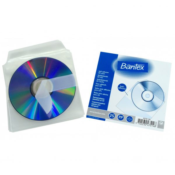 BANTEX 2078 自動黏貼CD袋(25個裝)