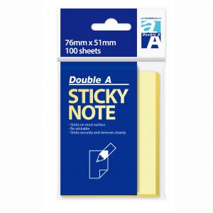 Double A RN17201-EN 黃色便條紙