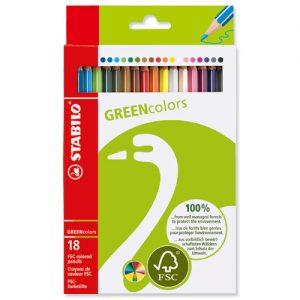 STABILO 60192-18 GREEN 環保系列木顏色筆(18色)